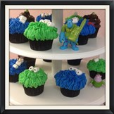 Monster Themed Cupcakes