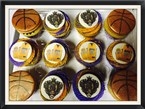 "Basketall ""Colby"" Themed Cupcakes"
